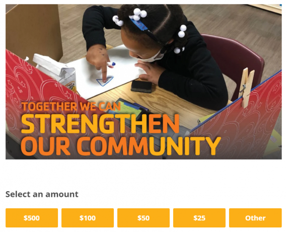 20_Strengthen our community donation screenshot