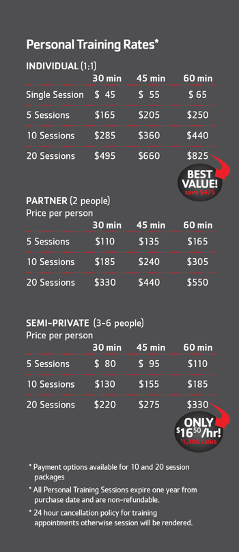 19_personal training pricing